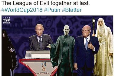 """Лига зла наконец вместе"": как мир отреагировал на Путина и Блаттера на одной сцене"