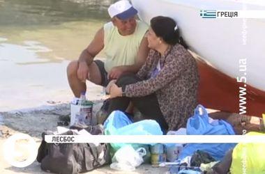 Греческий остров Лесбос страдает от нашествия нелегальных мигрантов