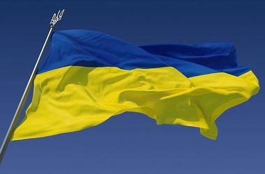 В Славянске сожгли флаг Украины