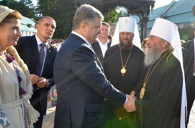 Порошенко поклонился чудотворным иконам Богородицы в Киево-Печерской лавре