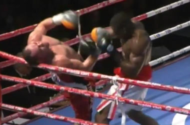 Спарринг-партнер Кличко отправил своего соперника за пределы ринга одним ударом