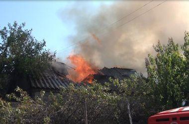 В Запорожье вспыхнул масштабный пожар