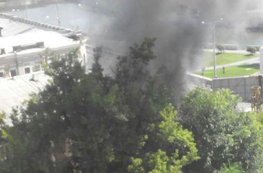 В центре Харькова заметили клубы черного дыма