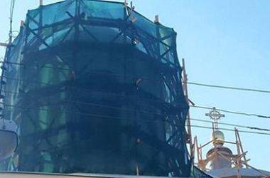 Киевляне волнуются из-за реставрации костела в центре города