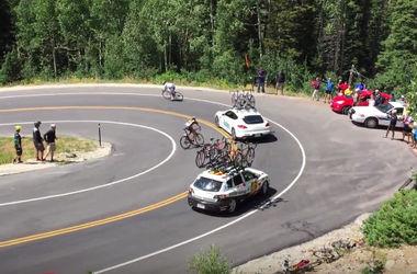 Ужасная авария: велогонщик на скорости врезался в автомобиль