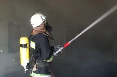 В Киеве сгорел домик на пляже