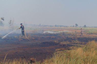 На Волыни вспыхнул масштабный пожар