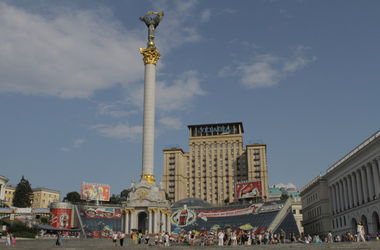 На Майдане прошел аполитичный флешмоб