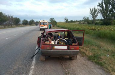 Смертельное ДТП в Запорожской области: грузовик влетел в легковушку