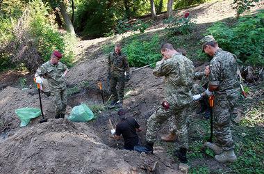В центре Киева ищут мертвых немецких солдат