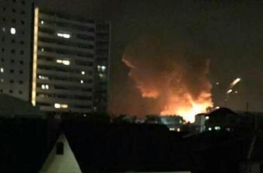 На американской военной базе в Японии произошли взрывы
