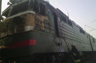 В Одесской области загорелся товарный поезд