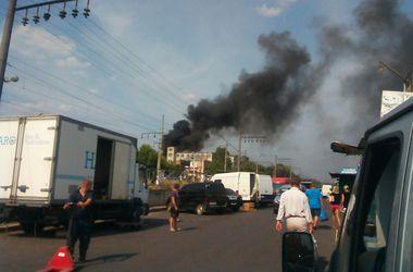 Ровно  - в дымовой завесе: рядом с центром вспыхнул пожар