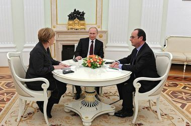 Путин, Меркель и Олланд без Порошенко поговорили об Украине