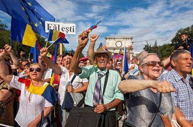 Митинг в центре Кишинева завершен, но палаточный городок остается