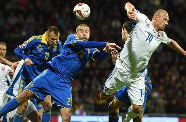 Яркие кадры с матча отбора Евро-2016 Словакия - Украина