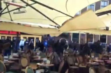 """Фанаты """"Марселя"""" разгромили кафе в Гронингене перед матчем Лиги Европы"""