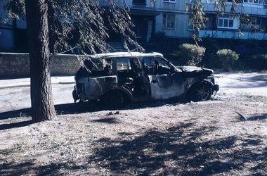 В центре Харькова сожгли Range Rover