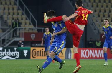 Эксклюзивные кадры с матча Македония - Украина