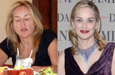 30 шокирующих фото звезд без макияжа