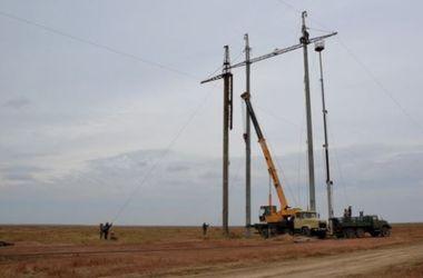 В сети появились фото энергоблокады Крыма