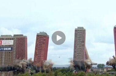 В Глазго взорвали сразу шесть высотных домов