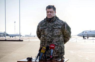 Порошенко вылетает на Донбасс