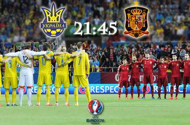 Онлайн матча Украина - Испания
