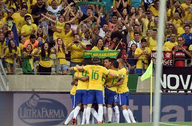 """Экс-игрок """"Шахтера"""" Виллиан принес Бразилии победу в матче отбора на ЧМ-2018"""