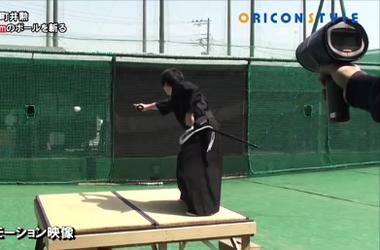 Видеохит: современный самурай разрубил мяч летящий на скорости 160 км/ч