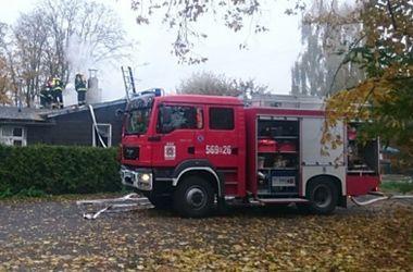 В Польше загорелся избирательный участок
