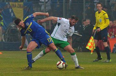 Плей-офф Евро-2016: Босния дома вырвала ничью в матче с Ирландией