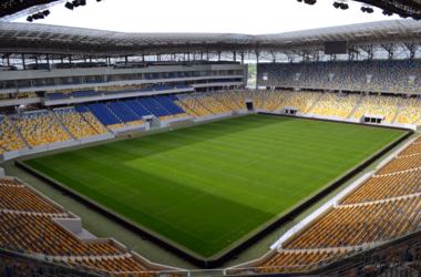 Перед матчем Украина - Словения на стадионе работают взрывотехники