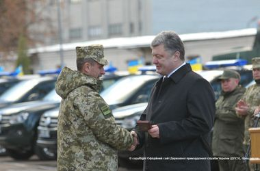 Порошенко во Львовской области наградил пограничников, воевавших на Донбассе