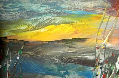 Украинец рисует удивительные пейзажи утюгом за час