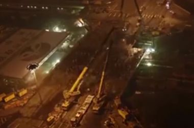 Невероятное видео: китайцы всего за 1,5 суток перестроили огромный мост