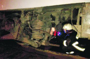 В Киеве на ходу загорелся локомотив