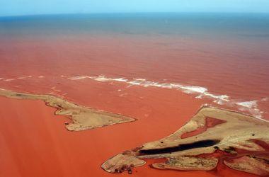 """В Бразилии река стала """"кровавой"""" из-за токсичных отходов"""