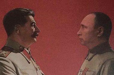 """Картина Путина со Сталиным """"взорвала"""" сеть"""