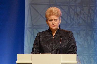 Президент Литвы жестко раскритиковала Россию за действия в Украине
