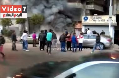 В сети появилось видео пожара в ресторане Египта после нападения