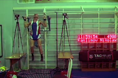 Сибиряк поставил рекорд по подтягиванию - 4989 раз