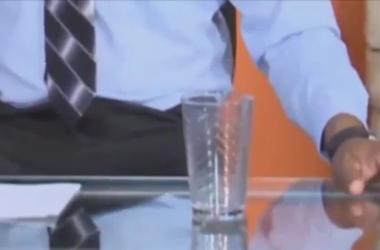 Призрак появился в прямом эфире телевидения