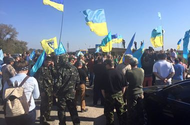 Участники блокады Крыма жалуются на холод и дефицит