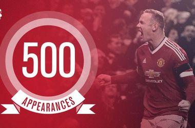"""Руни провел 500-й матч за """"Манчестер Юнайтед"""""""