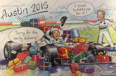 Босс Формулы-1 подшутил в открытке над ранним чемпионством Хэмилтона