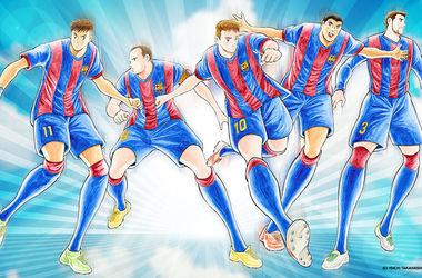 """Футболистов """"Барселоны""""  изобразили в стиле аниме"""