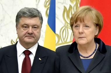 """Порошенко и Меркель """"сверили часы"""" накануне переговоров в """"Нормандском формате"""""""