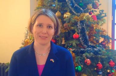 Посол Британии поздравила украинцев с Новым годом