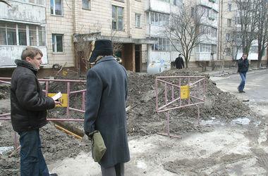 В Киеве прорвало водопровод, пять домов остались без воды